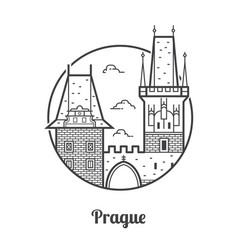 travel prague icon vector image