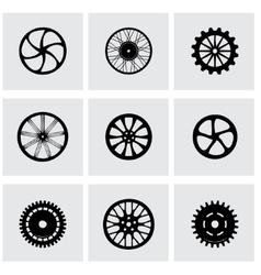 wheel icon set vector image vector image