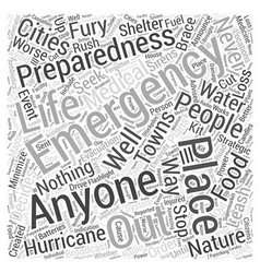 Emergency preparation word cloud concept vector