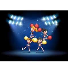 cheerleading squad vector image
