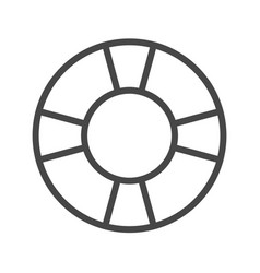 lifebuoy thin line icon vector image