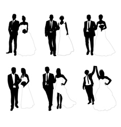 Wedding couples vector