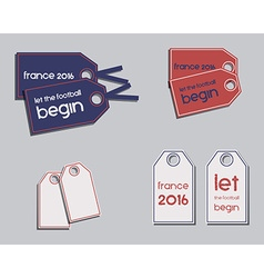Set of france 2016 football brand identity labels vector