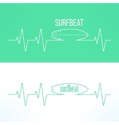 Surf surfbeat creative background and logo vector