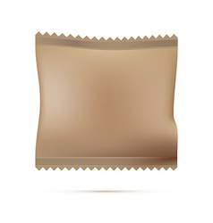 Blank package on white background vector