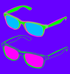 80s style sunglasses vector