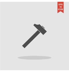 Hammer icon flat design style vector