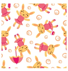 Cute rabbits pattern1 vector