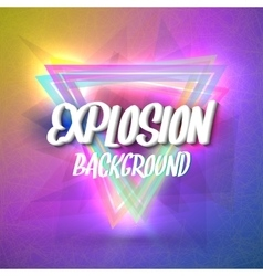 Abstract Explosion Background with Colorful vector image