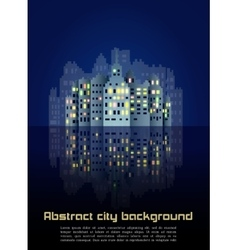 Abstract night city background vector