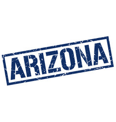Arizona blue square stamp vector