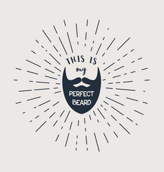 Beard with hipster lettering vector