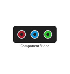 component video vector image