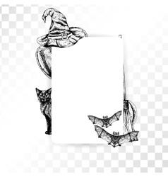 Frame halloween on transparent background vector