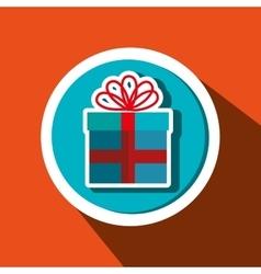 gift box present ribbon vector image