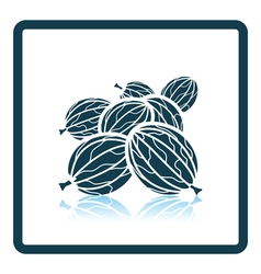 Icon of gooseberry vector