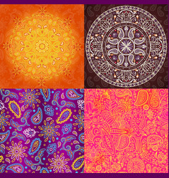 indian seamless pattern oriental textured vector image vector image