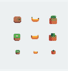 kiwi banana and pineapple fruits icons vector image vector image