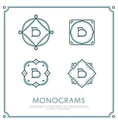 Letter b monogram vector