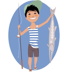 Little Angler vector image vector image