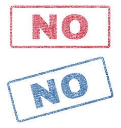 no textile stamps vector image vector image