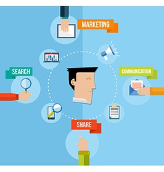 Social media marketing concept flat vector image vector image