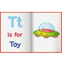 A picture of a toy on a book vector