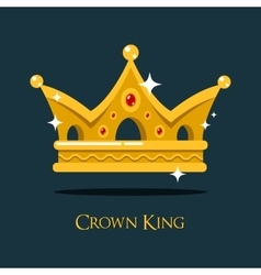 Blinking shiny king golden crown or crest vector