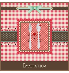 Greeting card or menu design vector