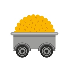 Cart farm wagon icon vector