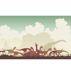 Dinosaur feast vector image
