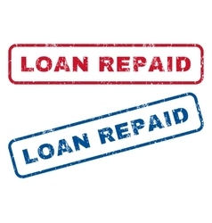 Loan repaid rubber stamps vector