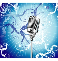 Microphone background vector