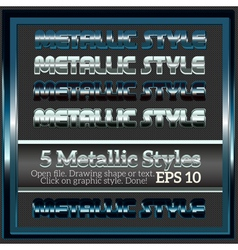 Set of metallic styles for design vector