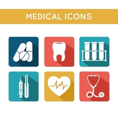 Health care medical icons set vector