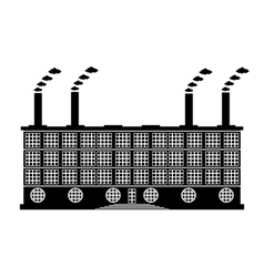 Factory building icon vector