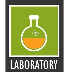 Icon simple laboratory flask with liquid vector