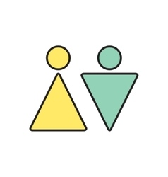 Heterosexual couple icon eps10 vector