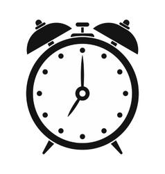 Alarm clock black simple icon vector