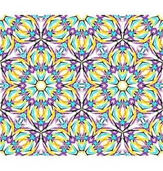 Thin kaleidoscopic fractal pattern vector