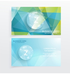 abstract creative business cards vector image