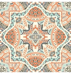 Abstract geometric mosaic vintage ethnic vector image