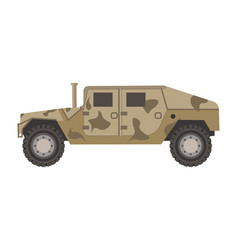 armored military vehicle with c vector image