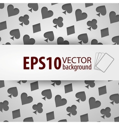 Background with different playing card symbols vector image