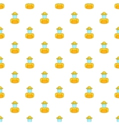 Beekeeper pattern cartoon style vector