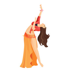 Belly dancer girl isolated on white professional vector