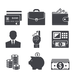 business money and finance icon vector image vector image