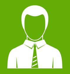 businessman icon green vector image vector image