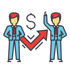 businessman with graph successful business vector image