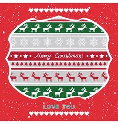 Christmas greeting card60 vector image